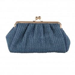 Bolsa de embrague, Natalia Azul, algodón
