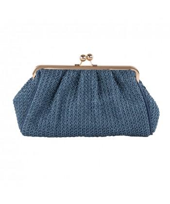 Bag clutch, Natalia Blue, cotton