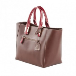 Bag in hand, Serena Brown, leather, made in Italy