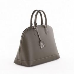 Handtasche, Fernanada Grün, leder, made in Italy