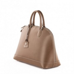 Handbag, Fernanada Beige, leather, made in Italy