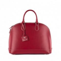 Handtasche, Fernanada Rot, leder, made in Italy