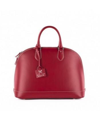 Bolsa, Fernanada, Vermello, coiro, feitos en Italia