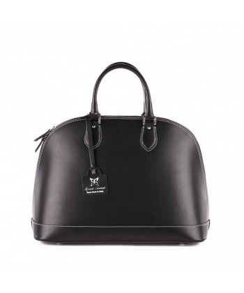 Handbag, Fernanada, Black, leather, made in Italy
