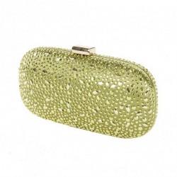 Borsa clutch, Elena Verde, in raso con borchiette