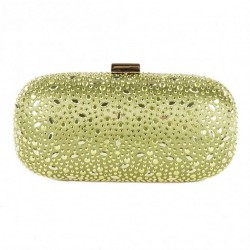 Bag clutch, Elena Green, in satin with studs