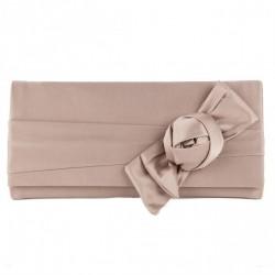 Bolsa de embreagem, Dalida Beis en satén con arco