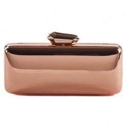 Bag clutch, Monica Rose, shiny metal