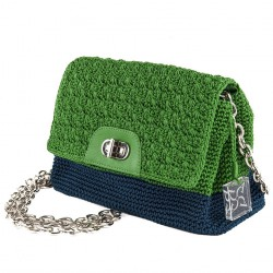 Bolso de hombro, Berta verde, algodón
