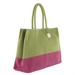 Handtasche, Desire grün, baumwolle