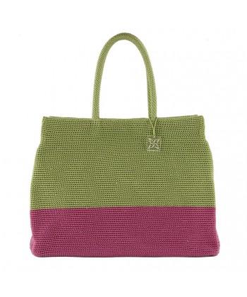 Bolso de mano, un Deseo de verde, de algodón