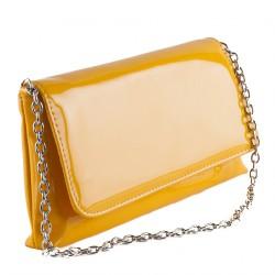 Bolsa de embreagem, Savina amarelo, coiro falso