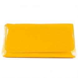 Sac d'embrayage, Savina jaune, faux cuir