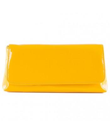 Bag clutch, Savina yellow, faux leather