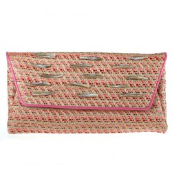 Borsa clutch, Clara, in rafia