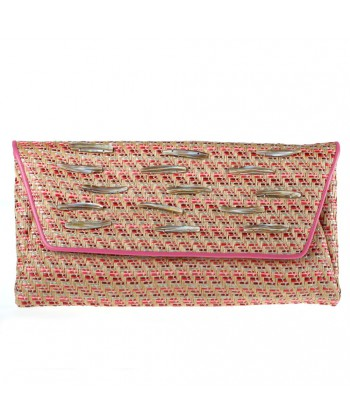 Bag clutch, Clara, raffia