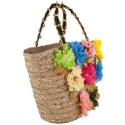 Handtasche, Tina, stroh