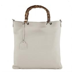 Handtasche, Zarin weißem, echtem leder