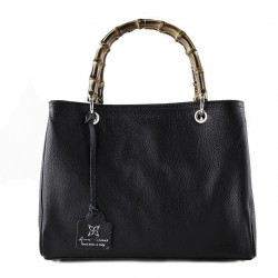 Handtasche, Thekla schwarz, echtes leder