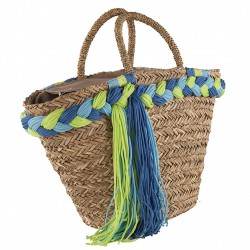 Handtasche, Penelope beige, stroh