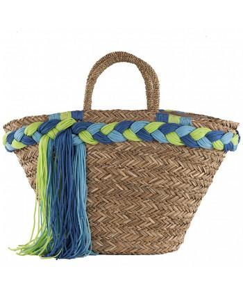 Hand bag, Penelope beige straw