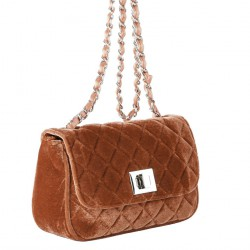 Shoulder bag, Cassandra beige, velvet