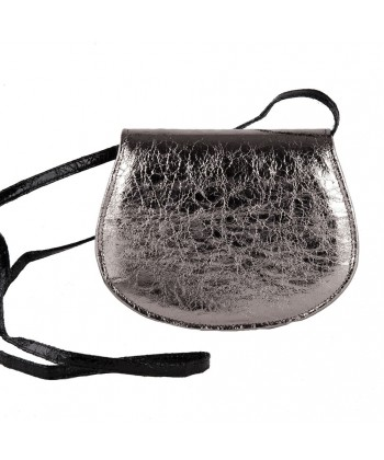 Shoulder bag, Apollonia silver, in eco-leather, laminated