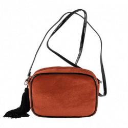 Shoulder bag, Adria red velvet