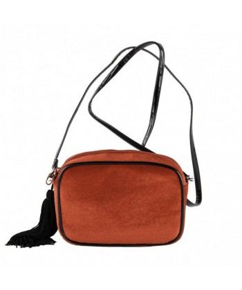 Shoulder bag, Adria red velvet