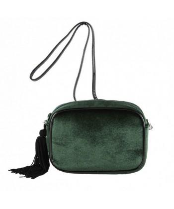 Bolso de hombro, Adria verde, de terciopelo