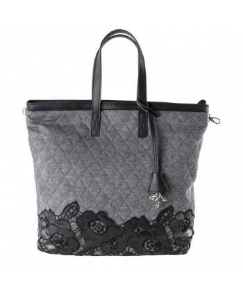 Handtasche, Deodata grauen, wattierten stoff