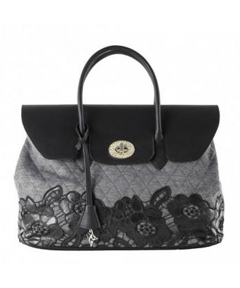 Handtasche, Dionisia grauen, wattierten stoff