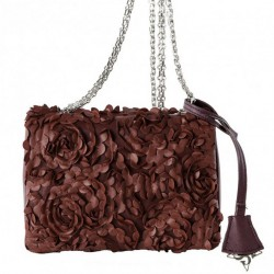 Shoulder bag, Dolores red, fabric