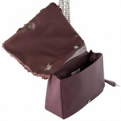 Shoulder bag, Dolores red, fabric