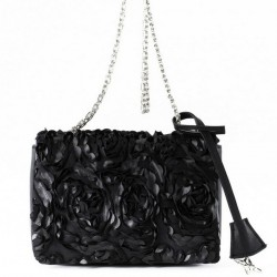 Shoulder bag, Dolores black, fabric