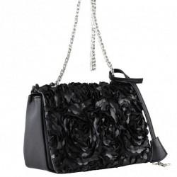 Shoulder bag, Dolores black, fabric