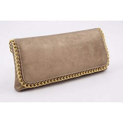 Borsa clutch, Clotilde Oro, in eco pelle