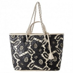 Shoulder bag, Beloved black, fabric