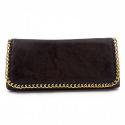 Borsa clutch, Clotilde Marrone, in eco pelle