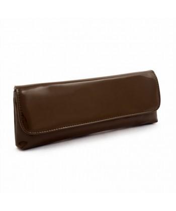 Borsa clutch, Artemia Cioccolato, in eco pelle lucida