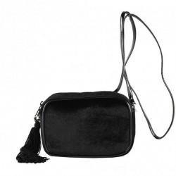 Shoulder bag, Adria black velvet