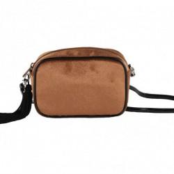 Shoulder bag, Adria orange, velvet