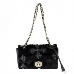 Shoulder bag, Duilinia black, fabric