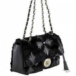 Shoulder bag, Duilinia black, fabric