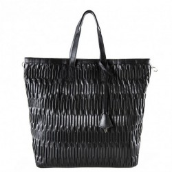 Bolsa mochila, Salua negro, en eco cuero en relieve