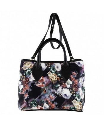 Hand bag, Eliana floral, neoprene