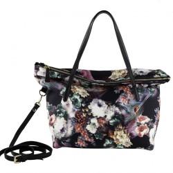 Hand bag, Elda flowers, neoprene
